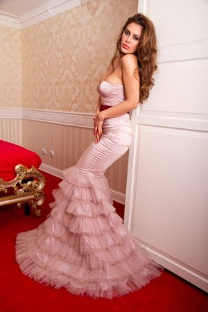 Beautiful woman in an elegant dress photo