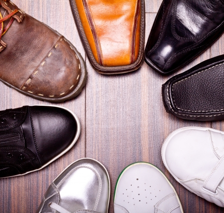 Shot of several types of shoes 版權商用圖片
