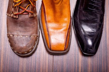 Shot of several types of shoes Stock Photo