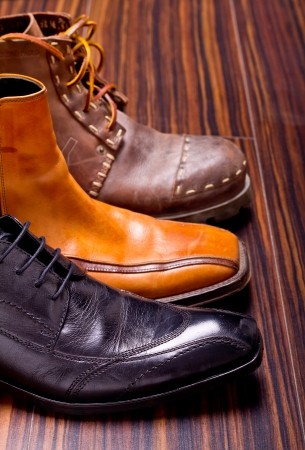 office shoes: Shot of several types of shoes Stock Photo