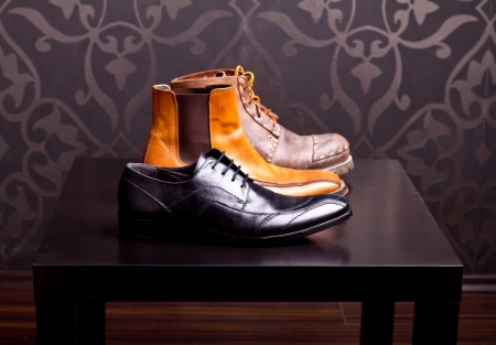 shoes fashion: Shot of several types of shoes Stock Photo