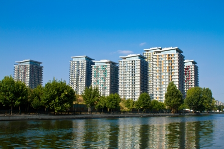 Complex of apartment buildings in Bucharest, Romania Stock Photo - 15507889