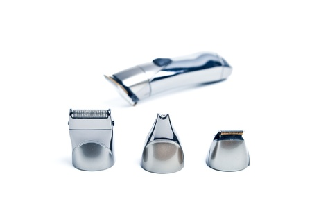 Luxury beardnose trimmer heads on white photo