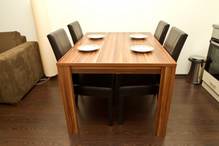 Dining table with four seats Stock Photo - 15409377
