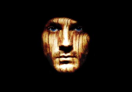 creepy monster: Ritratto di un uomo strano