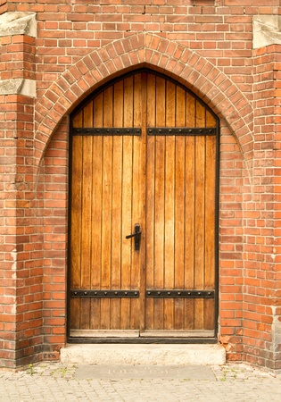 Wooden Castle Door In Italy Stock Photo, Picture And Royalty Free ...