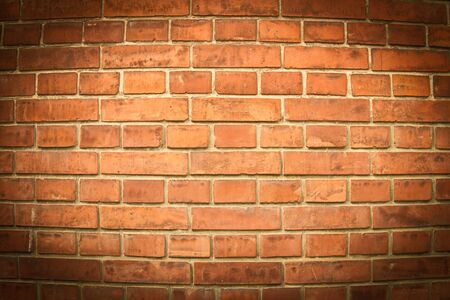 Round brick wall with vignette effect Stock Photo - 15537337