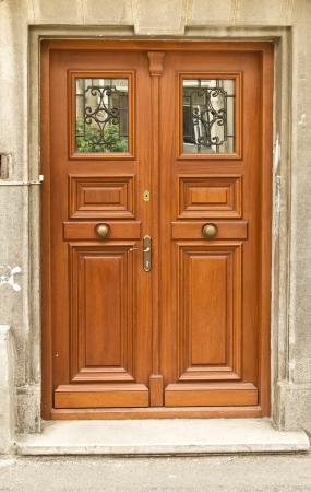 New wooden classic door Stock Photo - 15537348