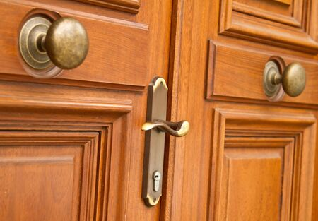 New wooden classic door Stock Photo - 15537282