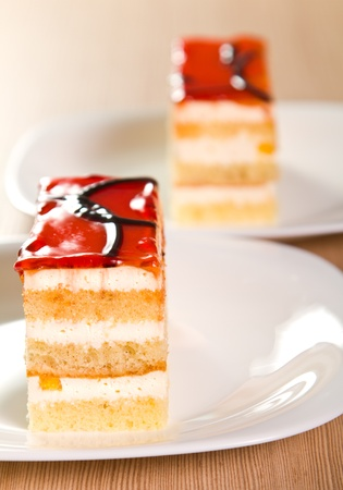Layered orange cake with jelly Stock Photo - 15757607