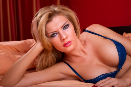 Портрет сексуальная красивая женщина Фото со стока