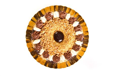 Chocolate cake with crushed nuts Stock Photo - 15939832