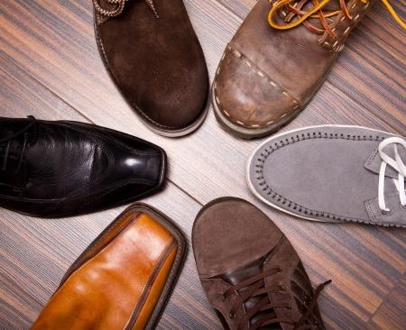 Several designs of men's shoes