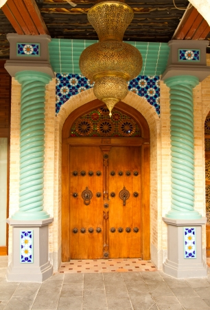 Entrance of an arabic house photo