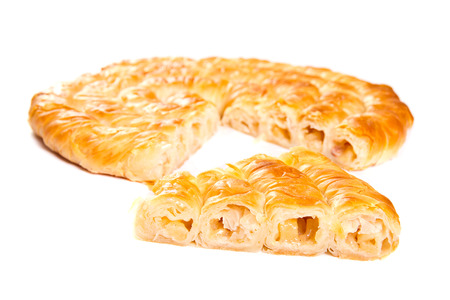 Apple pie isolated on white Stock Photo - 24626962