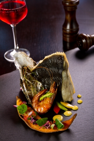Seafood dish photo