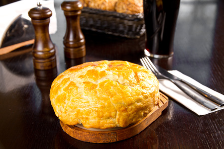 minced pie: Baked Irish pie with minced meat