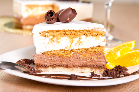 cream on cake: Caramel and vanilla cream cake