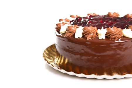 chocolaty: Chocolate cake with cherry jelly