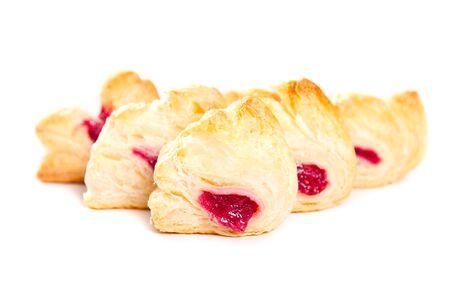 samll: Berries jam filled mini pies Stock Photo