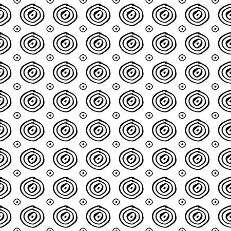 Seamless pattern with hand-drawn circle graphic Illustration