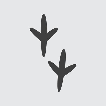 Vogel-Fußabdruck-Symbol Abbildung isolierte Vektor-Zeichen-symbol
