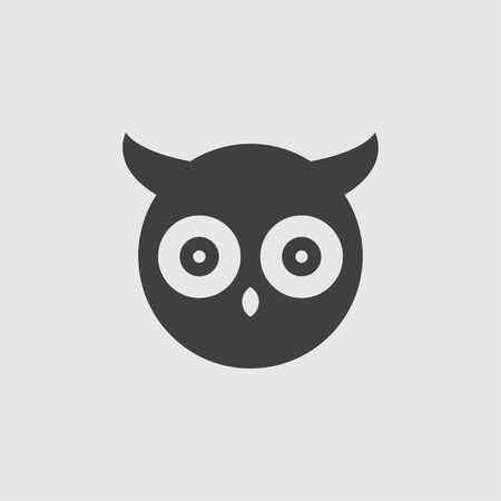 owl illustration: Owl icon illustration isolated vector sign symbol