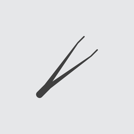 tweezer: Tweezers icon illustration isolated vector sign symbol