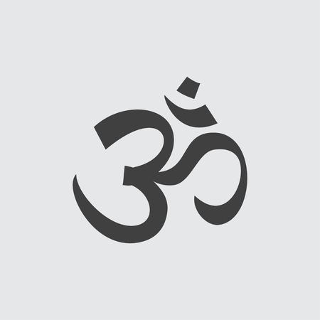 sanskrit: Om sign icon illustration isolated vector sign symbol Illustration