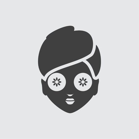 face mask: Face mask icon illustration isolated vector sign symbol Illustration