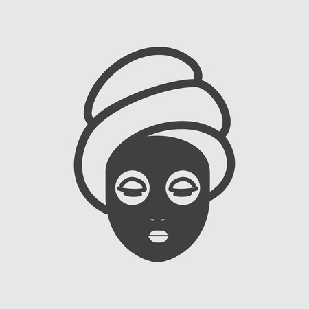 mask face: Face mask icon illustration isolated vector sign symbol Illustration