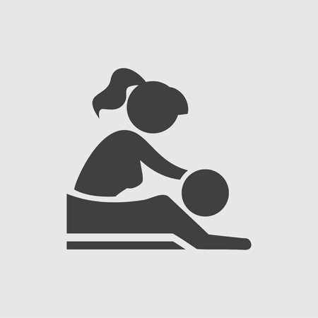 massage symbol: Massage icon illustration isolated vector sign symbol