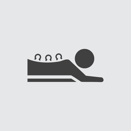 massage symbol: Cupping massage icon illustration isolated vector sign symbol