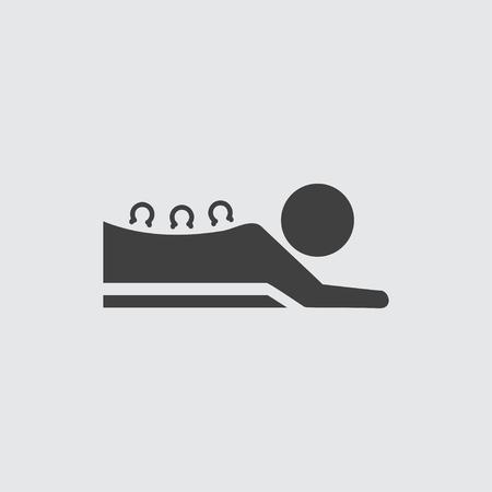 Cupping massage illustratie geïsoleerde vector symbool teken