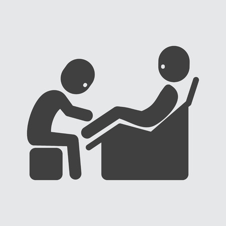 massage symbol: Foot massage icon illustration isolated vector sign symbol