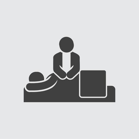 masajes relajacion: Masaje icónico símbolo vector aislado