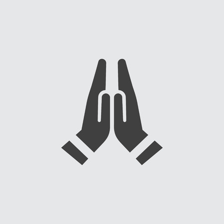 Prayer icon illustration isolated vector sign symbol