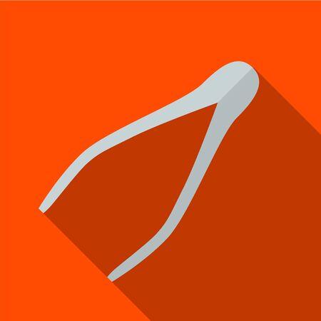 Tweezers flat icon illustration isolated vector sign symbol