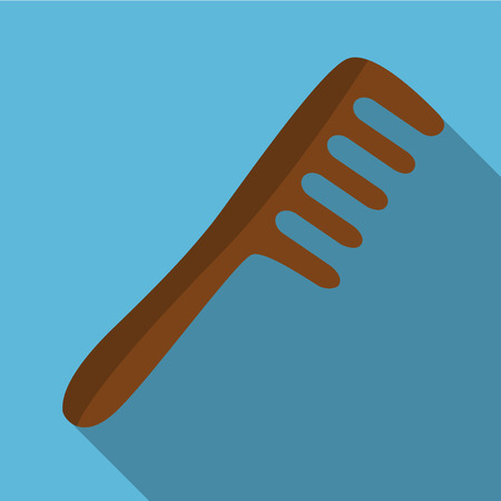 haircutting: Comb flat icon illustration isolated vector sign symbol