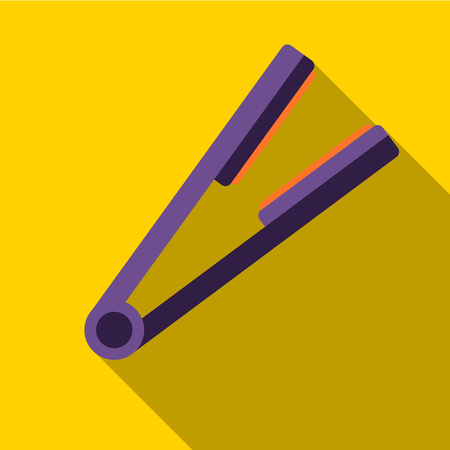 Hair straightener flat icon illustration isolated vector sign symbol