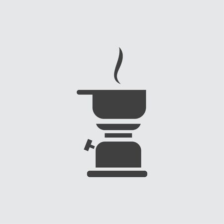 kerosene: Kerosene lamp icon illustration isolated vector sign symbol Illustration