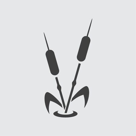 cattail: Reed icon illustration isolated vector sign symbol Illustration