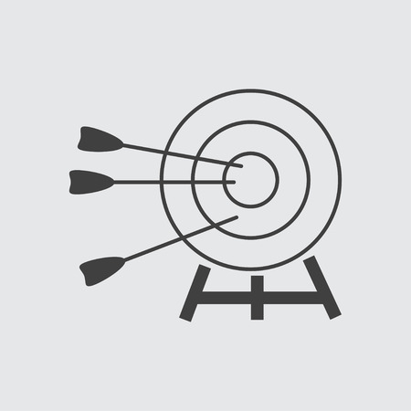 Target amd arrow icon illustration isolated vector sign symbol
