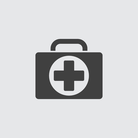 medical case: Medical case icon illustration isolated vector sign symbol Illustration