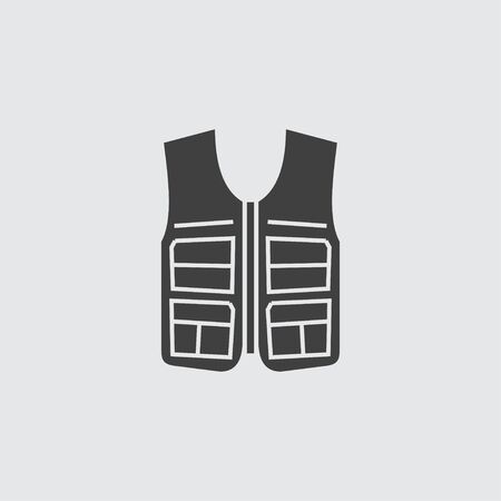 vest in isolated: Vest icon illustration isolated vector sign symbol