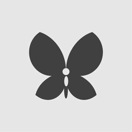 butterfly isolated: Butterfly icon illustration isolated vector sign symbol