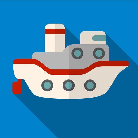 marine industry: Ship flat icon illustration isolated vector sign symbol Illustration