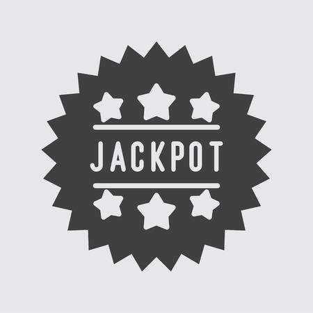 jackpot: Jackpot icon illustration isolated vector sign symbol