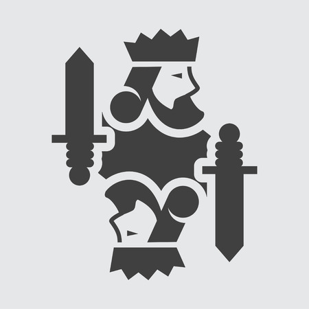 King card icon illustration isolated vector sign symbol Ilustração