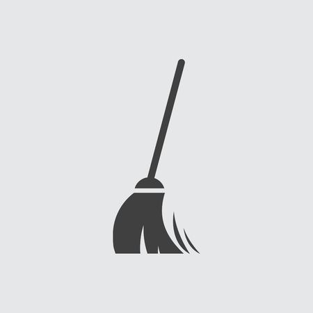 Broom icon illustration isolated vector sign symbol